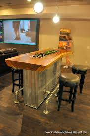 two sided bar seating in place of traditional bar basement