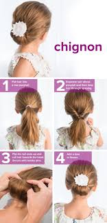 easy hairstyles for waitress s 5 fast easy cute hairstyles for girls chignon hair chignons