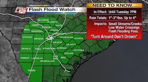 Utsa Map Flash Flood Watch Issued For San Antonio Surrounding Counties