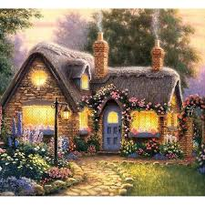 2018 diy painting kit suburban cottage home decor painting
