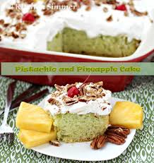 kitchen simmer pistachio and pineapple cake