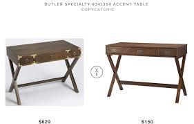 wood campaign desk console copycatchic