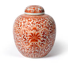 a chinese ginger jar and cover qing dynasty circa 1900 swoon art