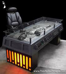 themed coffee table wars han carbonite desk custom furniture tom spina
