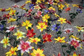 metal flowers metal plants loya s courtyard