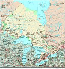 Wall Map Ontario Canada Political Wall Map Maps Com