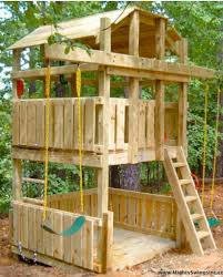 Backyard Fort Ideas Awesome Swing Fort I Think I Would Do A Sand Pit On The Bottom