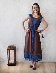 buy linen dress with lace