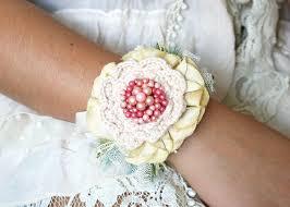 Wrist Corsage Bracelet Wrist Corsage Flower Bracelet Pink Light Yellow Turquoise Blue