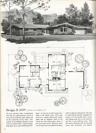 vintage house plans 2000 square feet mid century homes hearth