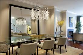 Sparkling Crystal Chandelier With Glass Dining Table For - Crystal chandelier dining room