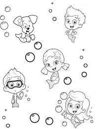 cartoon coloring pages bubble guppies coloring pages for children cartoon coloring