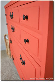 Bright Orange Paint by Painting With Brighter Paint Colors 80 Painted Furniture Ideas