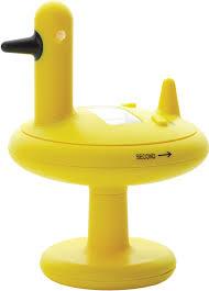 alessi 9 8 x 13 cm duck timer kitchen timer yellow amazon co uk