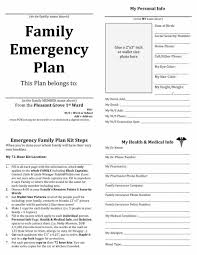 contact form and card download family emergency plan template a