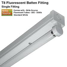fluorescent light fittings 5ft 6ft t8 fluorescent high frequency batten fitting single with tube