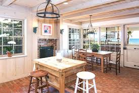 Brick Floor Kitchen by Kitchen Rustic Style Of Country Kitchen Ideas Rustic Kitchen