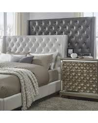 Wingback Tufted Headboard Amazing Deal On Aurora Faux Leather Crystal Tufted Nailhead