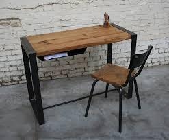 bureau br bu003 giani desmet meubles indus bois métal et cuir