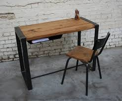 bureau bois bureau br bu003 giani desmet meubles indus bois métal et cuir