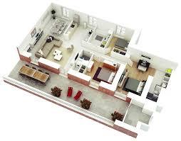 home design three bedroom house floor plans ideas flor plan 3d 3