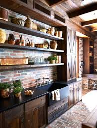 rustic country kitchen cabinets small white corner design the