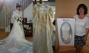 in wedding dress yellowed wedding dress cleaning weddinggownpreservationkit