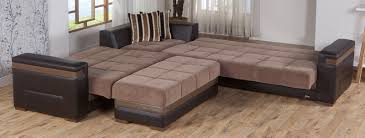 Sectional Sofa With Bed by Moon Troya Brown Sectional Sofa By Sunset