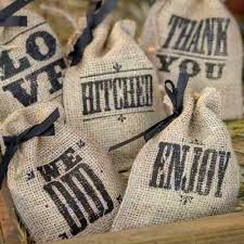 burlap favor bags wedding sayings burlap favor bags