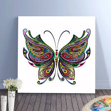 abstract painting elephant butterfly colorful animals diy