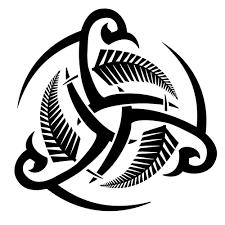 triskell celtic fern maori tribal borneo strength valiance