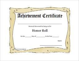 9 printable honor roll certificate templates u2013 free word pdf