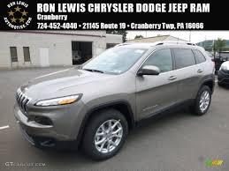 jeep cherokee green 2017 2017 light brownstone pearl jeep cherokee latitude 4x4 114837714