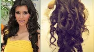 pretty hair styles with wand kim kardashian hair tutorial how to curl long hair big