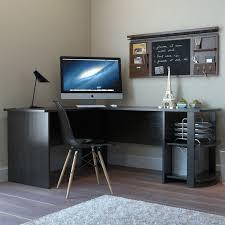 Flat Computer Desk Kristen Corner L Shaped Computer Desk In Black