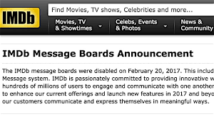 what happened to imdb message boards 12 darkly comic exles of why imdb shut down its message boards