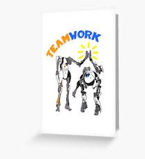 teamwork greeting cards redbubble
