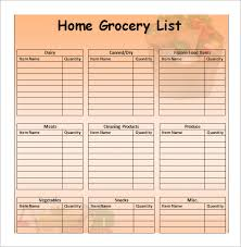 Shopping List Template Excel Grocery List Templategrocery List Template 7 Shopping List