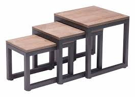 Zuo Christabel Bar Table Civic Center Nesting Tables Distressed Natural By Zuo Modern
