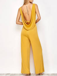 s jumpsuits belted backless jumpsuit yellow jumpsuits rompers s zaful
