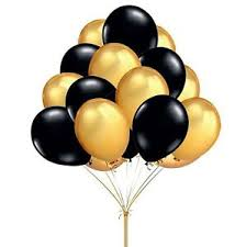 metallic balloons gold black metallic balloons helium quality baloon birthday