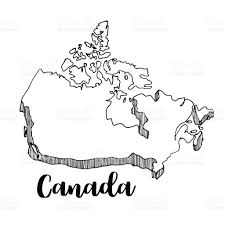 Manitoba Canada Map by Hand Drawn Of Canada Map Vector Illustration Stock Vector Art