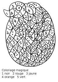 coloriage ã dessiner magique pour ce2 multiplication