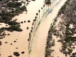 camp pendleton roads flooded after heavy rains vandegrift under