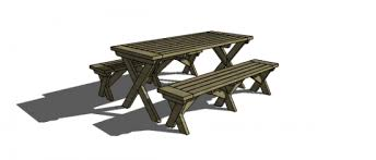 Plans For A Wood Picnic Table by Free Diy Furniture Plans To Build A Potterybarn Inspired