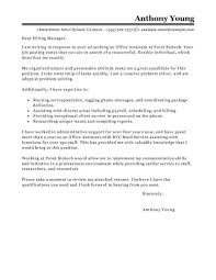 assistant cover letter best office assistant cover letter exles livecareer