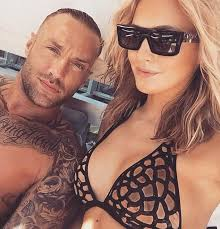 calum best displays abs as he also cuddles up to ianthe rose