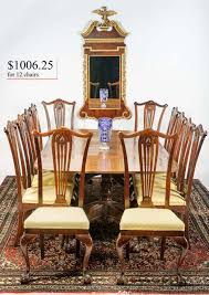 Chippendale Dining Room Set Table 12chairs Jpg