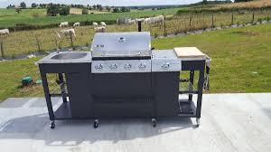 cuisine au gaz barbecue à gaz 5 brûleurs cuisine extérieure d artagnan
