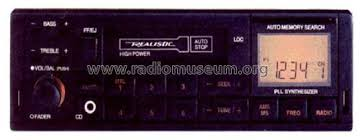 realistic car radio 12 1940 car radio radio shack tandy